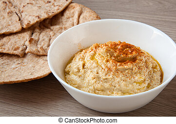 Home made fresh hummus
