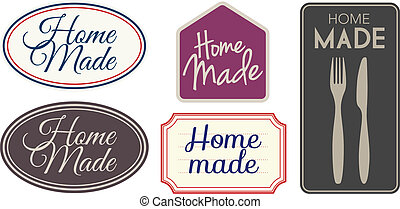 Home made labels - Vector Home made labels different styles