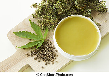 Home made ointment made of marijuana