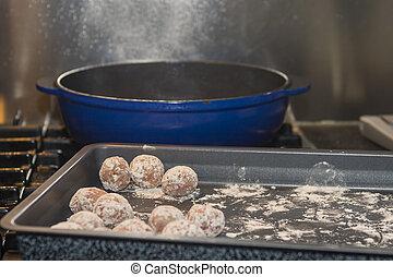 Home made meatballs