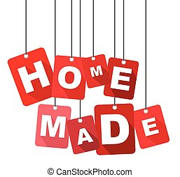 home made, red vector home made, flat vector home made, background home made