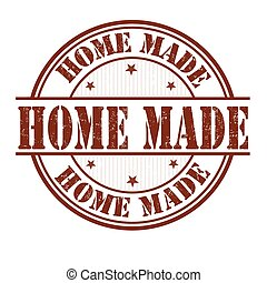Home made stamp - Home made grunge rubber stamp on white...