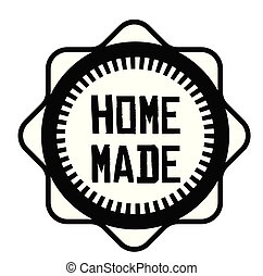 HOME MADE stamp on white