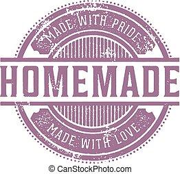 Home Made Vintage Stamp