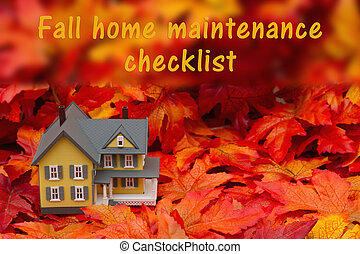 Home maintenance checklist for the fall season