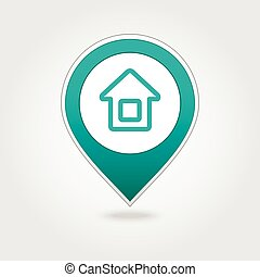 Home map pin icon