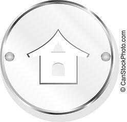 home metal button