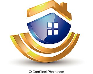 home modern 3d logo