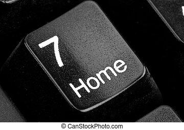"""""""home"""", nøgle"""