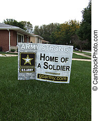 Home of a Soldier: Vertical - Home of a Soldier sign on...