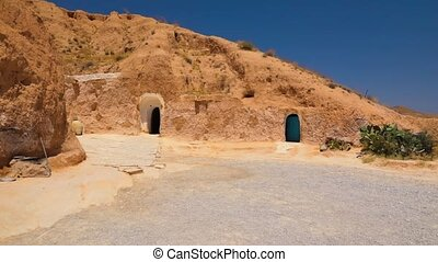 home of berbers in Tunisia - exterior of the ancient house...
