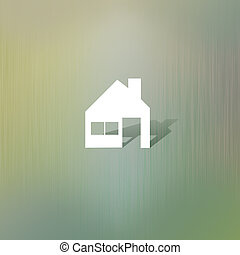 Home of paper cut on abstract background