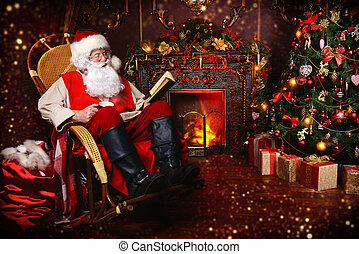 home of Santa Claus - Good old Santa Claus having a rest in...
