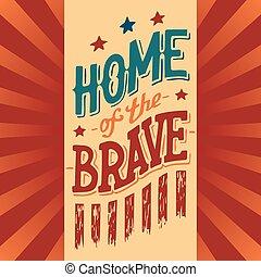 Home of the Brave illustration