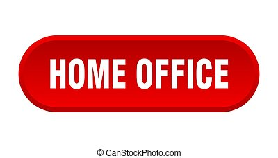 home office button. rounded sign on white background