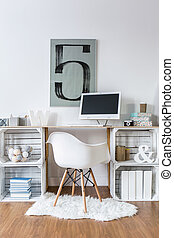 Home office with good atmosphere - Handmade desk from...