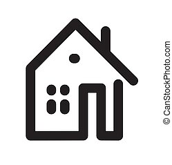 Home or house flat icon isolated  on white background