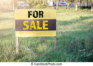 Home or property For Sale Real Estate Sign