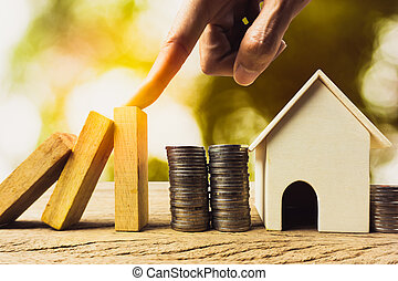Home or real estate insurance protection concept.