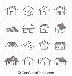 Home outline stroke icons - Home outline stroke symbol...