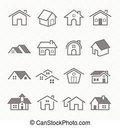 Home outline stroke icons - Home outline stroke symbol ...