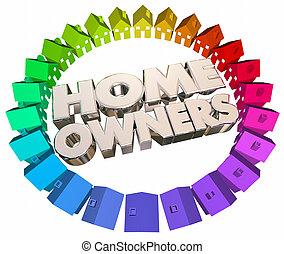 Home Owners Buyers Houses Association Neighborhood 3d...