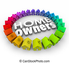 Home Owners Houses Neighborhood Buying Borrowing Money Real...