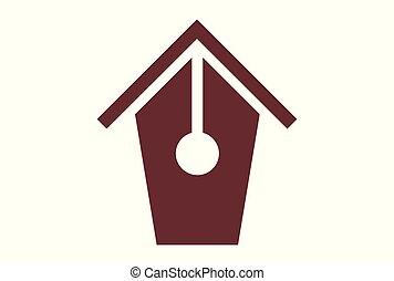 home pen logo vector