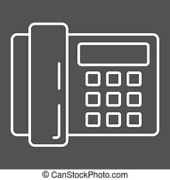 Home Phone line icon, household and appliance