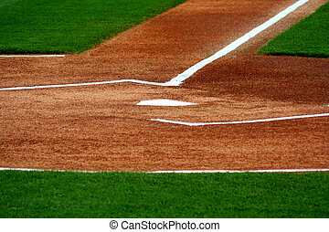 Home Plate - an image of home plate on a baseball field