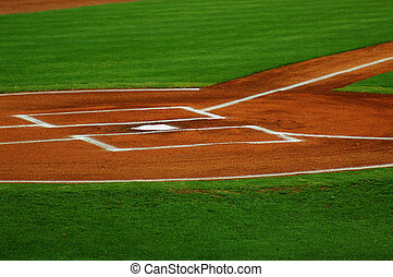home plate and baseball filed, before the game