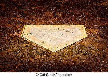 Home Plate on Baseball Diamond for Scoring Points - Home ...