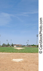 Home Plate on Baseball Field