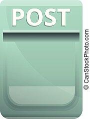 Home post box icon, cartoon style