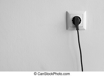 Home power outlet in the wall