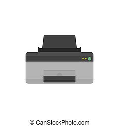 Home printer icon, flat style