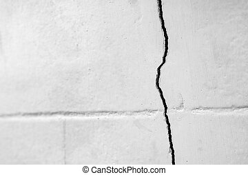 Home problem, building problem, wall cracked