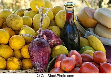 Natural agricultural products grown in the south of Italy