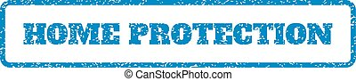 Home Protection Rubber Stamp