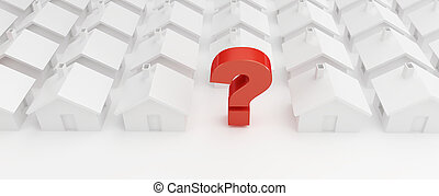 home question mark on a white background