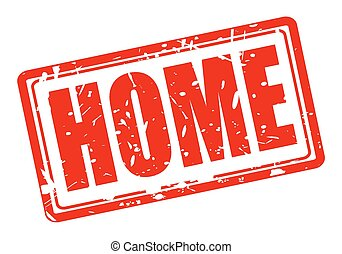 Home red stamp text
