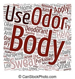 Home Remedies For Body Odor text background wordcloud concept
