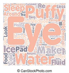Home Remedies For Puffy Eyes text background wordcloud...