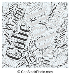 home remedy for colic Word Cloud Concept