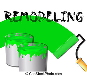 Home Remodeling Displays House Remodeler 3d Illustration