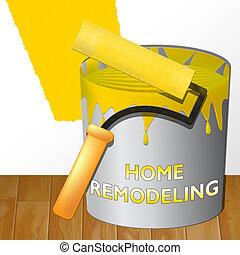 Home Remodeling Means House Remodeler 3d Illustration