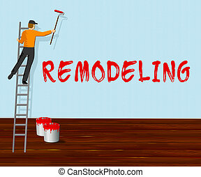 Home Remodeling Shows House Remodeler 3d Illustration