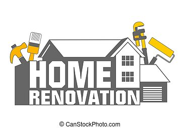 Home Renovation icon - An illustration of home renovation ...