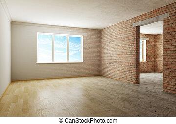 home renovation in progress. 3d rendering