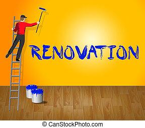 Home Renovation Indicates House Improvement 3d Illustration